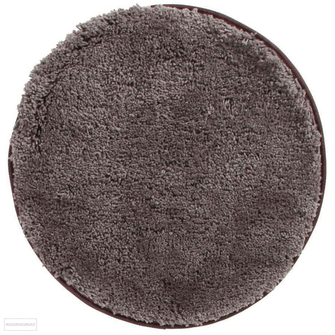 Soho Round Shag Rug Dark Brown