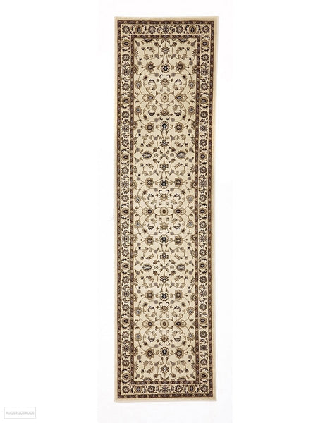 Sydney Collection Classic Rug Ivory with Ivory Border - 150x80cm