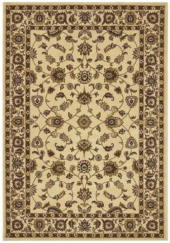 Sydney Collection Classic Rug Ivory with Ivory Border - 170x120cm