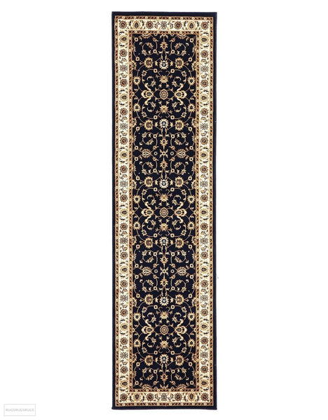 Sydney Collection Classic Rug Blue with Ivory Border - 150x80cm