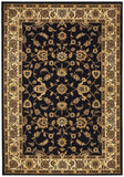 Sydney Collection Classic Rug Blue with Ivory Border - 170x120cm