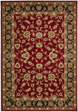 Sydney Collection Classic Rug Red with Black Border - 170x120cm