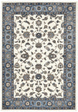 Sydney Collection Classic Rug White with Blue Border - 170x120cm