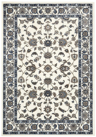 Sydney Collection Classic Rug White with White Border - 170x120cm
