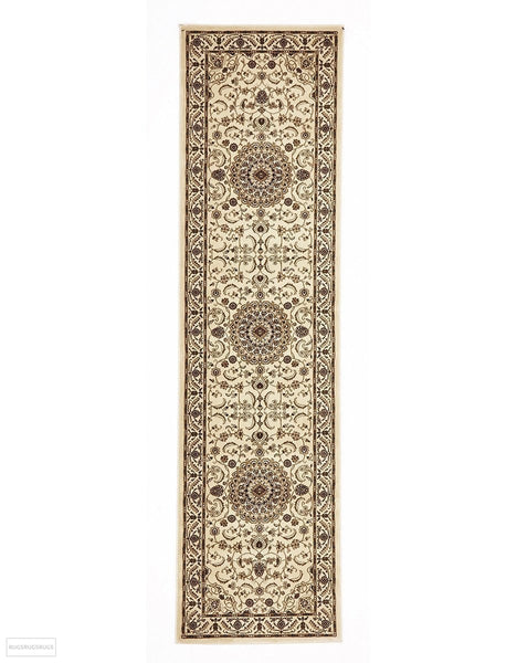 Sydney Collection Medallion Rug Ivory with Ivory Border - 150x80cm