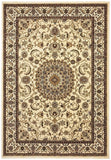 Sydney Collection Medallion Rug Ivory with Ivory Border - 170x120cm