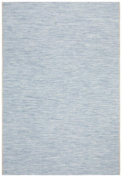 Terrace Clara Diamond Rug Blue - MODERN