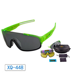 Polarized Cycling Sports Sunglasses with Interchangeable Lens