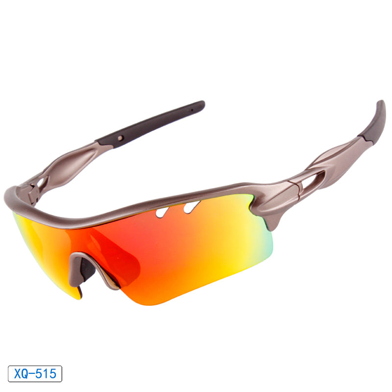 Sports Polarized Cycling Sunglasses with Interchangeable Lens