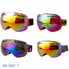 Unisex Double Layer Spherical Ski Goggles