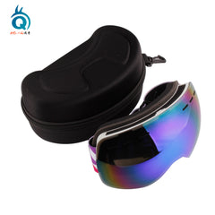 Double Layer Lens Ski Goggles with Anti Slip Strap