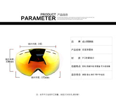 Customization Windproof Adult Ski Goggles