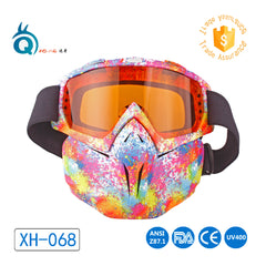 New style motorcycle goggles with mask