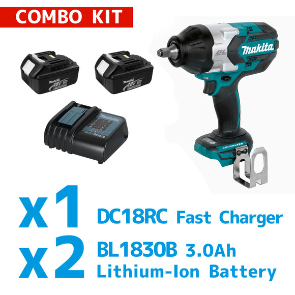 MAKITA DTW1001 Cordless Impact Wrench Combo Kit