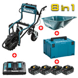 MAKITA DCU180Z Battery Powered Wheelbarrow Bucket Set [8 in 1]