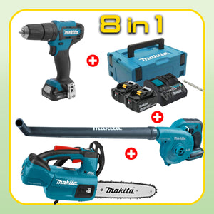 MAKITA OPE Combo 2 [8 in 1] [HP333DNX10 + DUB183Z + DUC254Z]