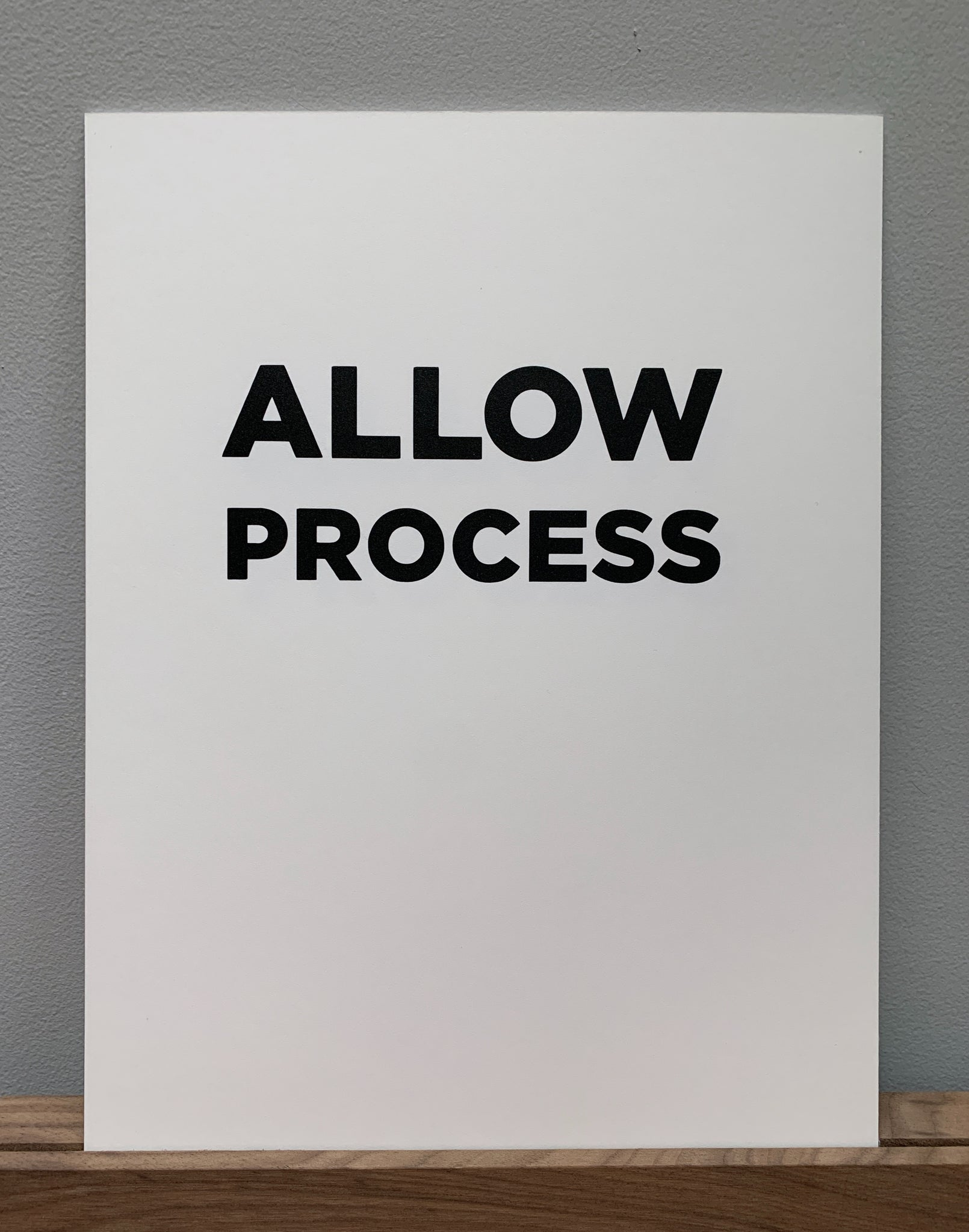 Allow Process Art Print — Large