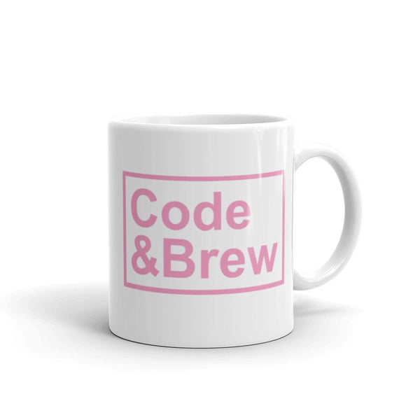 Code & Brew White Glossy Mug - code-and-brew - Code and Brew