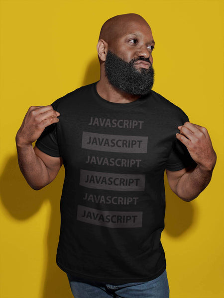 Code & Brew Short-Sleeve Unisex T-Shirt JavaScript gray text - code-and-brew - Code and Brew