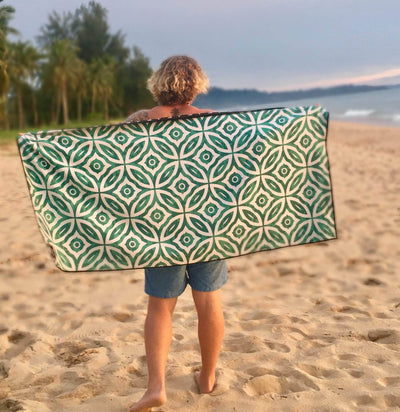 EvolveTravelGoods Sand Free Travel Beach Towel Aegean