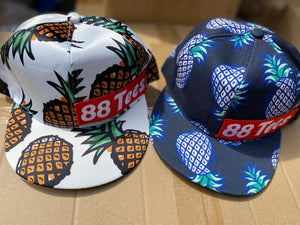 UNISEX PINEAPPLE ALL OVER TRUCKER SNAPBACK CAP