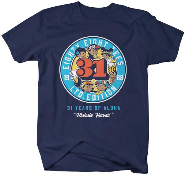 KIDS 31 YEARS OF ALOHA TEE