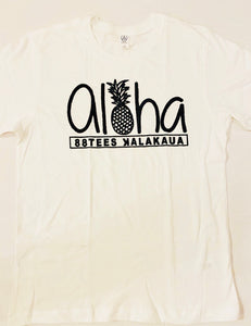 MENS ALOHA PINEAPPLE PATCH TEE