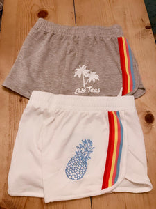 WOMENS RAINBOW STRIPE SHORTS