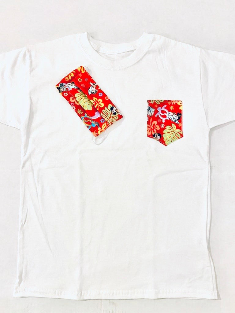 KIDS YAYA FAMILY POCKET TEE & MASK SET