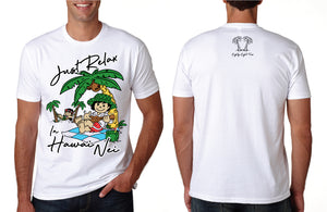 MENS JUST RELAX IN HAWAII NEI TEE