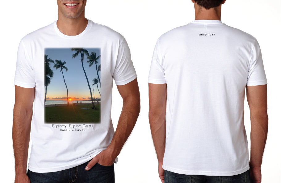 MENS HAWAIIAN SUNSET TEE