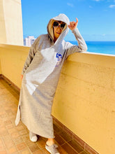 Load image into Gallery viewer, WOMENS FREE SIZE YAYA SURFBOARD LONGSLEEVE HEAVY WEIGHT HOODIE DRESS