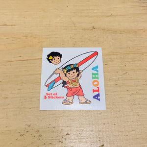 SURFER YAYA AND KUKU 3 SET STICKERS