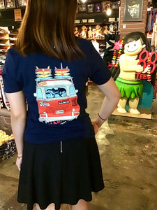 WOMENS VOLKSWAGEN X 88TEES RED BUS TEE