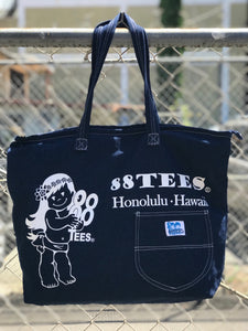 YAYA IN HONOLULU DENIM ZIPPER TOTE BAG
