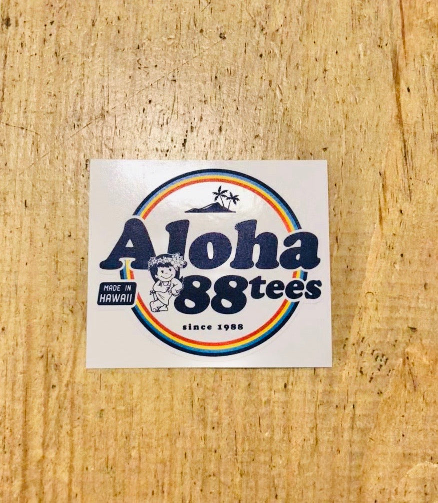 ALOHA MADE IN HAWAII STICKER
