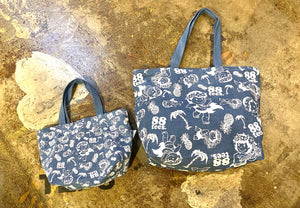 YAYA ALL OVER DENIM TOTE BAG