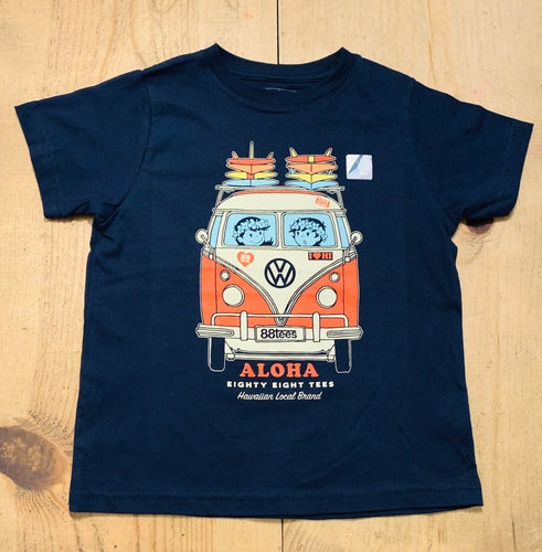 KIDS VOLKSWAGEN X 88TEES RED BUS TEE