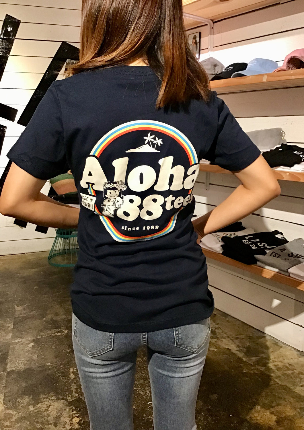 WOMENS ALOHA MADE IN HAWAII TEE