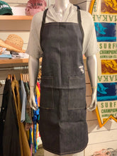 Load image into Gallery viewer, EMBROIDERED SURFER YAYA DENIM APRON