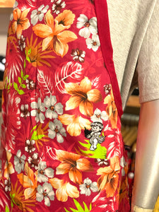 EMBROIDERED HULA YAYA FLORAL APRON