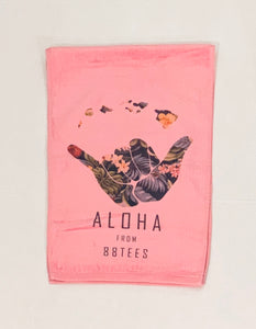 FLORAL HANG LOOSE SPORTS TOWEL