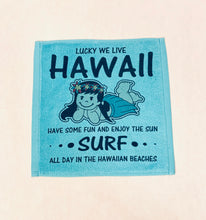 Load image into Gallery viewer, WE LIVE HAWAII FACE TOWEL
