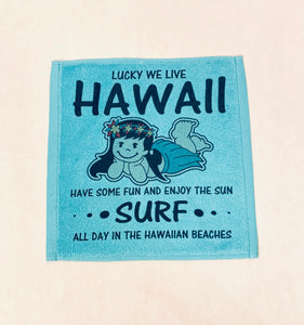 WE LIVE HAWAII FACE TOWEL