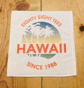 SUNSET IN HAWAII SINCE 1988 FACE TOWEL