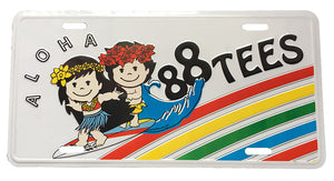 88TEES SURF LICENSE PLATE