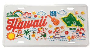 HAWAII MAP LICENSE PLATE