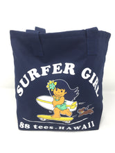 Load image into Gallery viewer, SMALL NAVY SURFER YAYA GIRL TOTE BAG