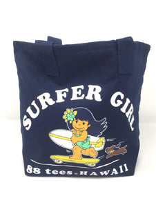 SMALL NAVY SURFER YAYA GIRL TOTE BAG