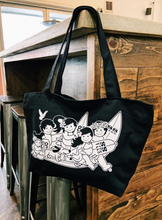 Load image into Gallery viewer, YAYA AND OHANA ZIPPER TOTE BAG